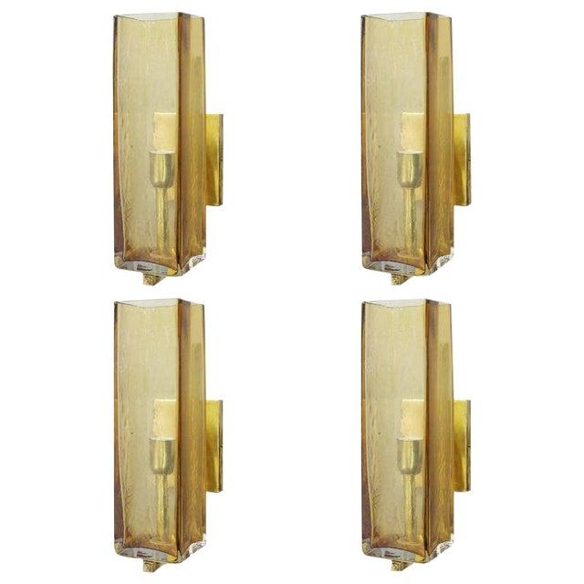 Set of Four Geometric Sconces by Fabio Ltd For Sale