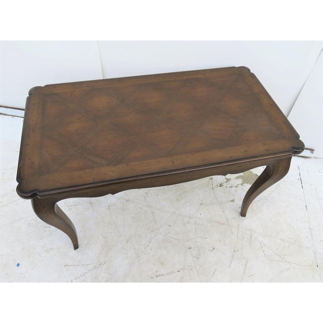 French Provincial French Style Walnut Coffee Table For Sale - Image 3 of 4