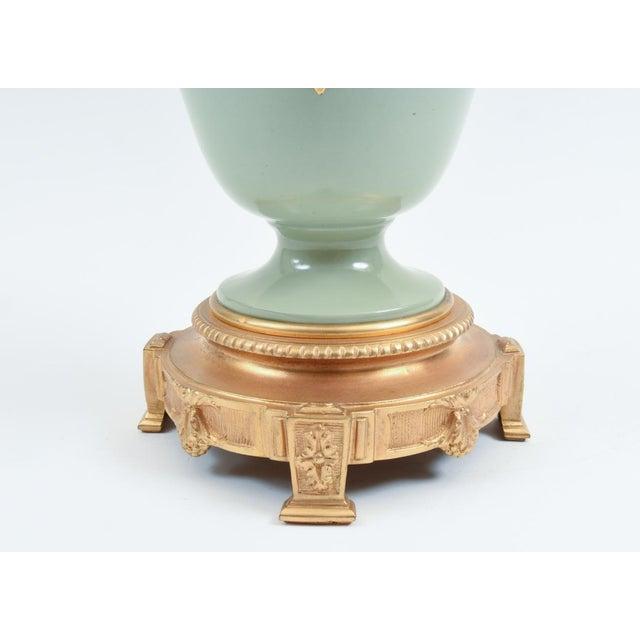 Bronze Bronze Mounted Porcelain Decorative Urn For Sale - Image 7 of 11