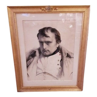 Mid 19th Century Emile Lassalle Napoleon Lithograph After Delaroche, Framed For Sale
