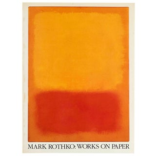 """ Mark Rothko : Works on Paper "" Rare Vintage 1984 1st Edition Collector's Lithograph Print Exhibition Art Book For Sale"