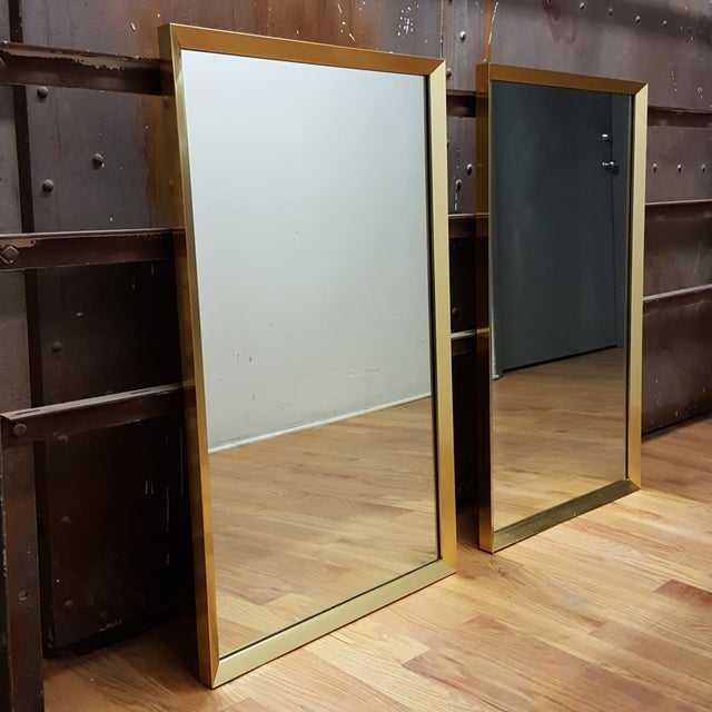 Large Brass-Framed Mirrors - A Pair - Image 3 of 6