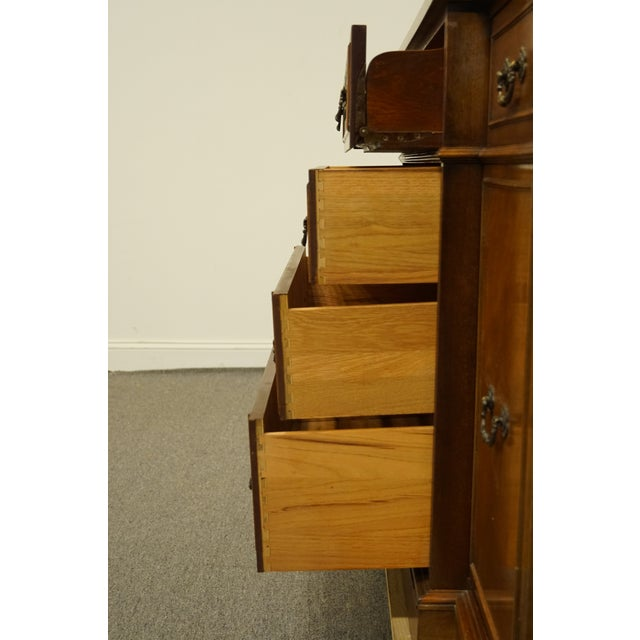 Wood 1960s Mahogany Traditional Style Secretary Credenza With Display China Cabinet Hutch For Sale - Image 7 of 13