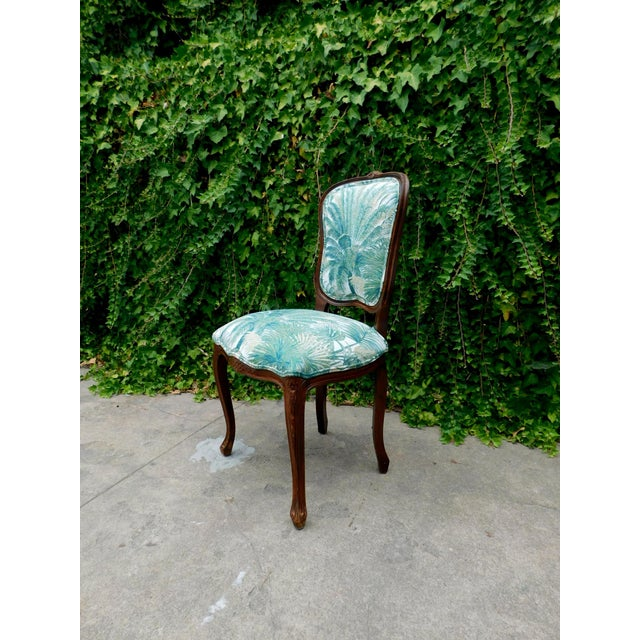 Italian Italian Carved Wood Botanical Accent Chair For Sale - Image 3 of 10