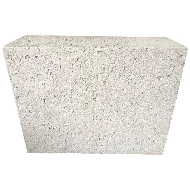 Postmodern Monolythic Cast Stone Concrete Console Table Or Pedestal Base Chairish
