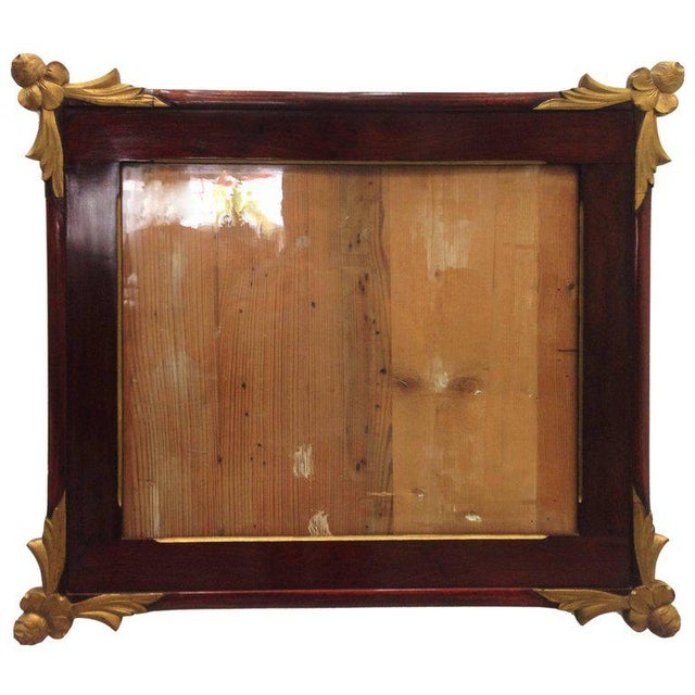 19th Empire Style Rectangular Frame with Bronze Mounts in the Corners - Image 7 of 7