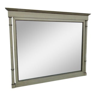 Large Painted Distressed Wall Bathroom Vanity Dresser Mirror For Sale