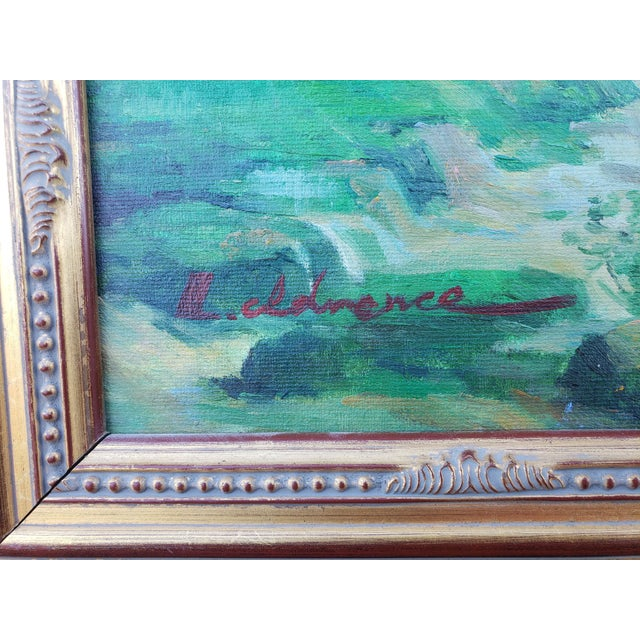 Late 20th Century Original Countryside River Landscape Oil Painting For Sale In Phoenix - Image 6 of 12