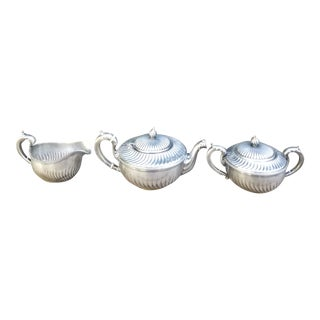 Antique Gorham Silverplate Three Piece Coffee Service - Set of 3 For Sale