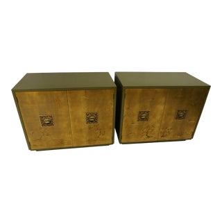 Chinoiserie Lacquered & Gilded Chests - a Pair