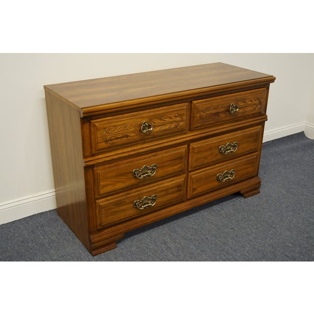 Traditional Sumter Cabinet Co. Walnut Italian Provincial Double Dresser For Sale - Image 3 of 12