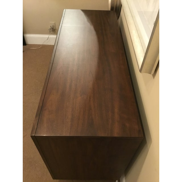 Mid-Century Modern Modern Wood Raised Door Cabinet For Sale - Image 3 of 8