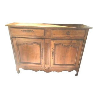 Antique French Country Fruitwood Buffet For Sale