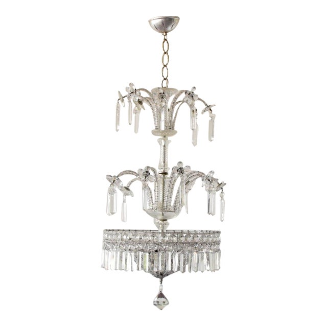 Silver Italian Chandelier For Sale