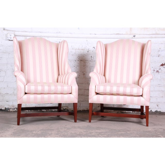 Baker Furniture Wingback Lounge Chairs, Pair For Sale - Image 13 of 13
