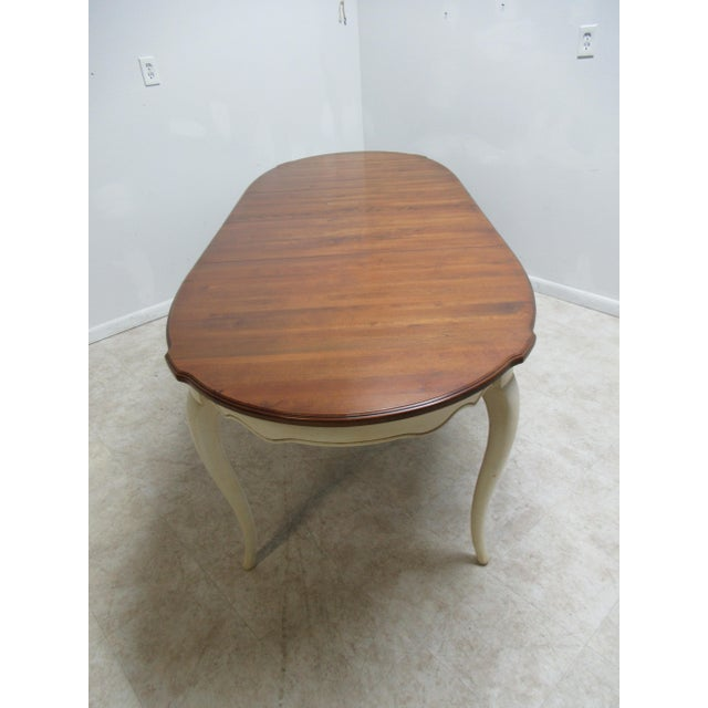 French Country Ethan Allen Dining Room Banquet Table For Sale - Image 10 of 12