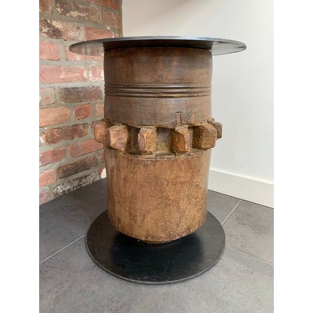 20th Century Industrial Hardwood Cog Stool For Sale In New York - Image 6 of 9