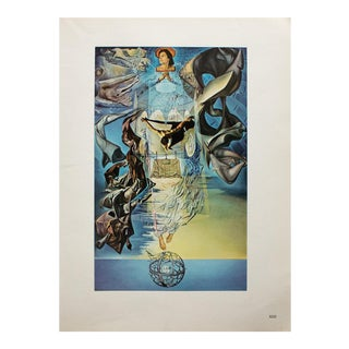 "1957 Salvador Dali ""Static Supersonic Speed of Raphael's Madonna"" Original Period Photogravure For Sale"