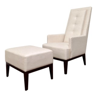 RJones Cecil Lounge Chair and Ottoman For Sale