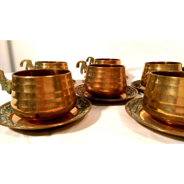 Brass Sea Tail Tea Set- Service for 6 - Image 5 of 9