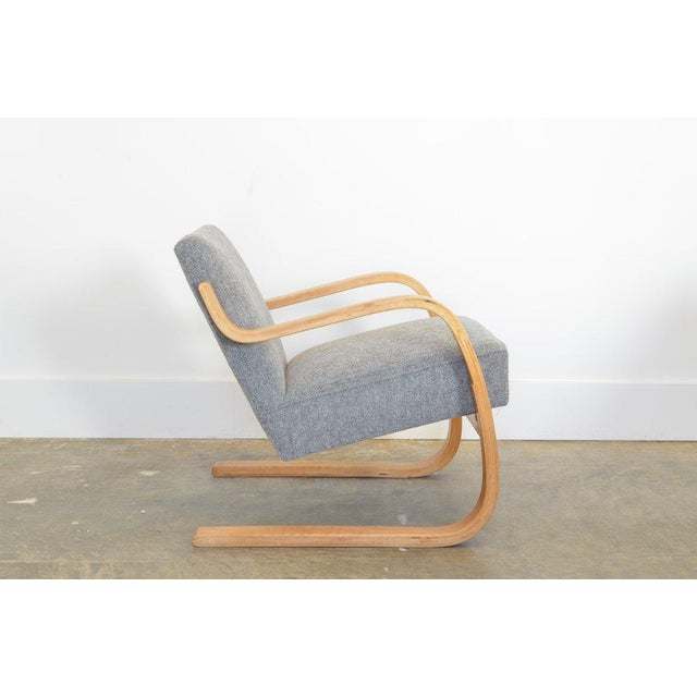 Mid-Century Modern Alvar Aalto 34/402 Model Cantilever Chair in Pierre Frey For Sale - Image 3 of 7