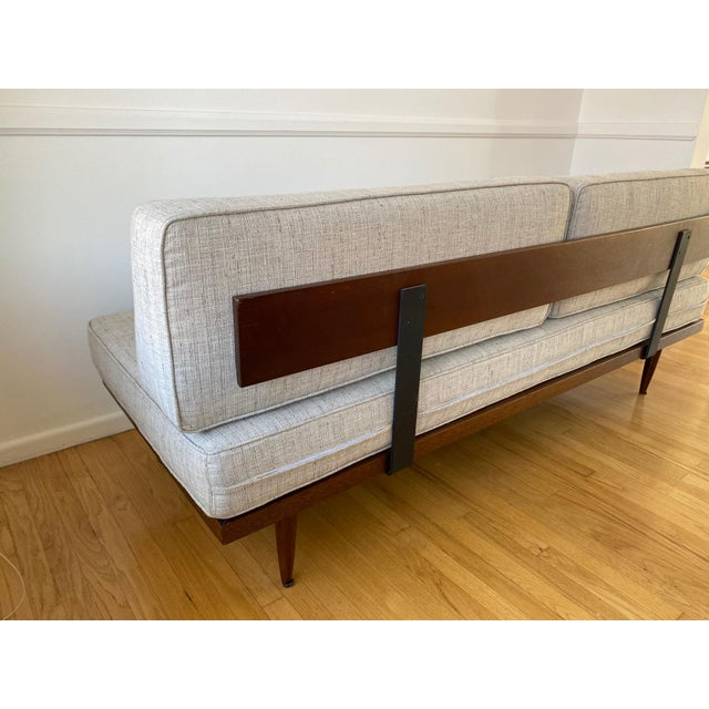Mid-Century Gray Sofa For Sale - Image 9 of 13
