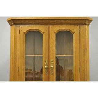 Vintage Oskar Huber Oak Wood Corner China Cabinet Preview