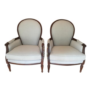 1990s Vintage Custom French-Style Chairs - a Pair For Sale