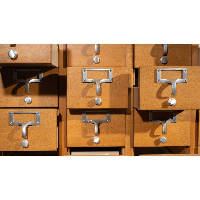 This industrial card catalogue was once housed in the University Of Wisconsin and kept records for many years before...
