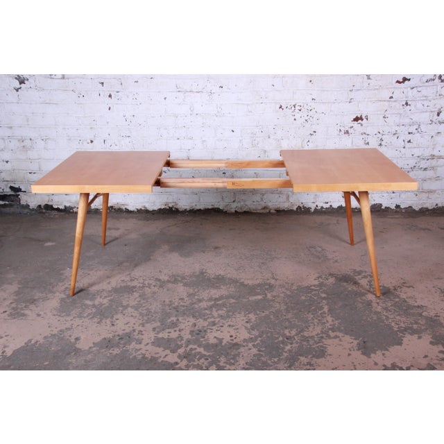 1950s Paul McCobb Planner Group Maple Extension Dining Table For Sale In South Bend - Image 6 of 13