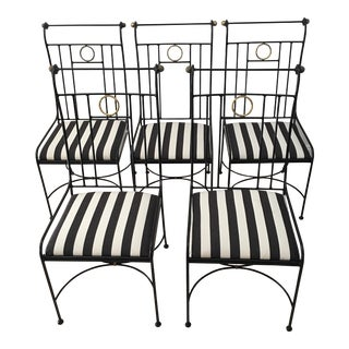 Vintage Charleston Forge Hollywood Regency Chairs - Set of 5