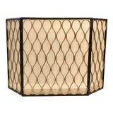 Image of Modern Black and Gold Metal/Mesh Fireplace Screen For Sale