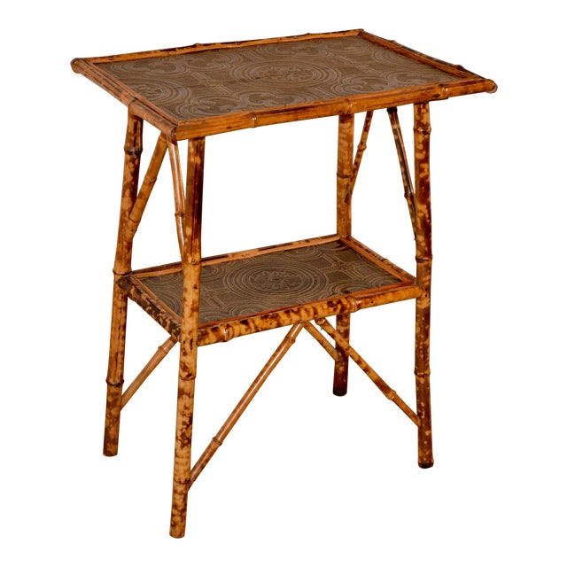 19th C Bamboo Side Table For Sale