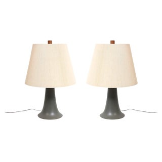 Pair of Ceramic Table Lamps by Martz For Sale