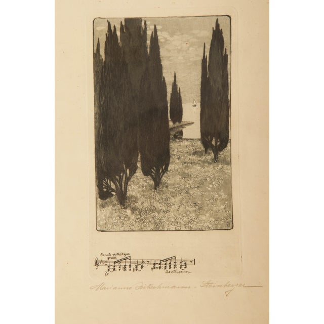 Marianne Hitschmann-Steinberger Etching From 1900 Set of Two For Sale - Image 9 of 10