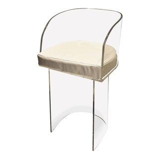 Chloe Clear Acrylic Minimalist Contemporary Chair For Sale