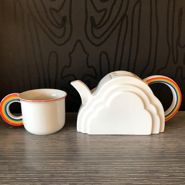 Japanese Cloud and Rainbow Teapot and Mug Set - Image 2 of 7