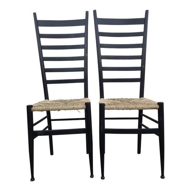 Vintage Mid Century Italian Ladder Back Chair A Pair Chairish