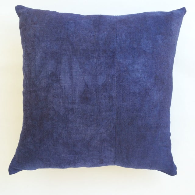 Hand Woven Purple-Indigo Hemp Pillow - Image 2 of 3