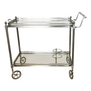 Vintage French Maison Jansen Bar Cart For Sale