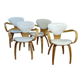 1950s Mid-Century Modern Norman Cherner Plycraft Chairs - Set of 4 For Sale