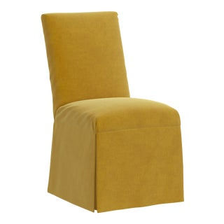 Slipcover Dining Chair in Monaco Citronella For Sale