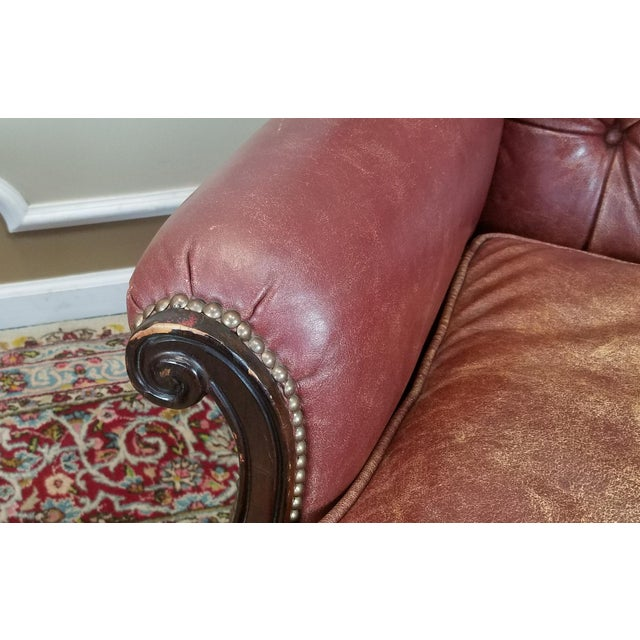 Lillian August Leather Wing Back Armchairs - A Pair - Image 4 of 10