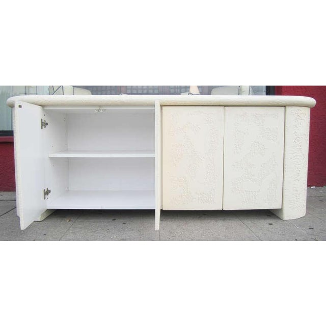 Neo-Classical Textured Credenza For Sale - Image 4 of 9