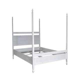 Venice Bed, Queen, White Wash For Sale
