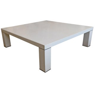 Faux Alligator and Chrome Low Table in the Style of Karl Springer For Sale