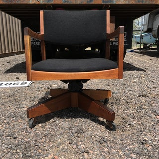 Danish-Modern Sculptural Walnut Desk Chair by Gregson Manufacturing Preview