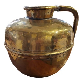 Early 19th Century French Provincial Brass Jug For Sale