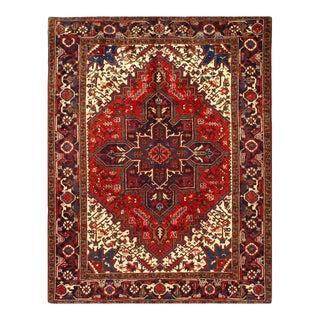 Pasargad Rust Antique Persian Heriz Serapi Rug 6'7'' X 8'6'' For Sale