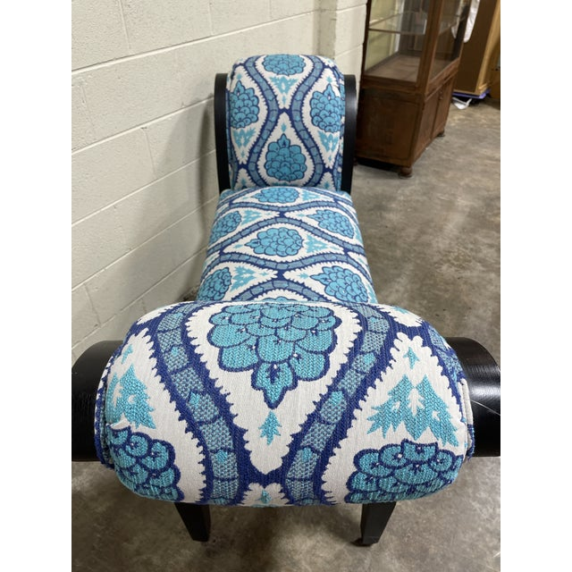 Italianate Scrolled Arm Custom Designer Bench For Sale - Image 9 of 12
